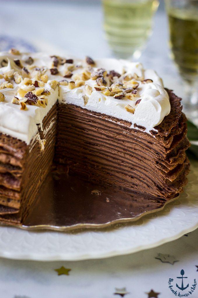 Dark Chocolate Crepe Cake