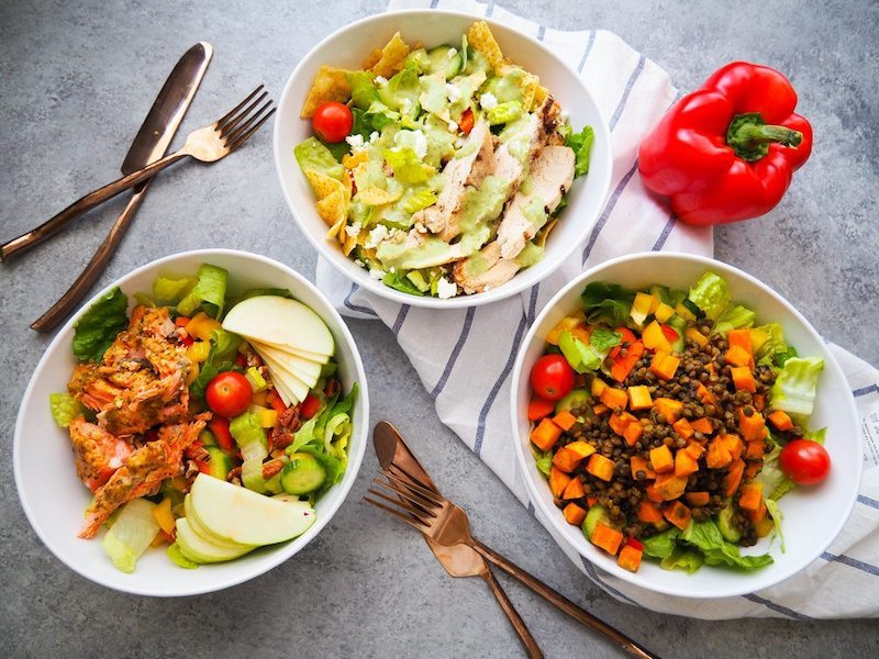 Easy Lunch Salad Three Ways
