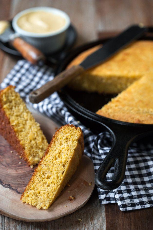 Honey Butter and Vanilla Bean Skillet Cornbread