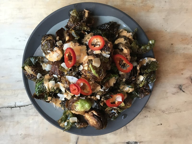 brussel sprouts with special sauce