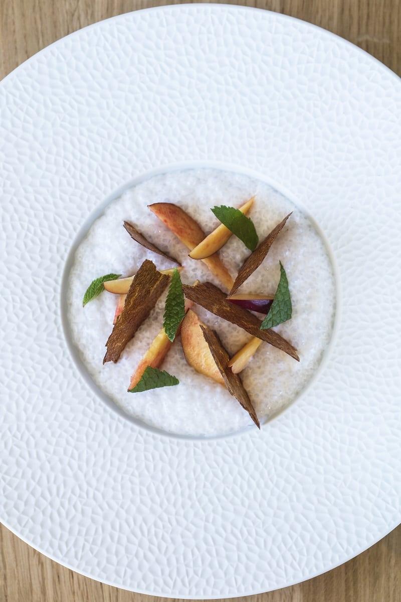 sugar free tapioca aux nectarines Loiseau des Sens @MatthieuCellard