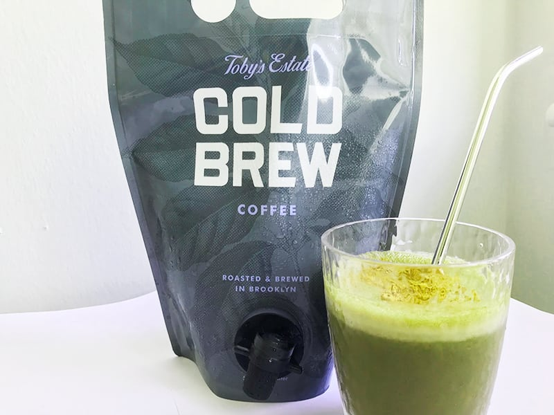 Green Mocha Fall Smoothie with Toby's Estate