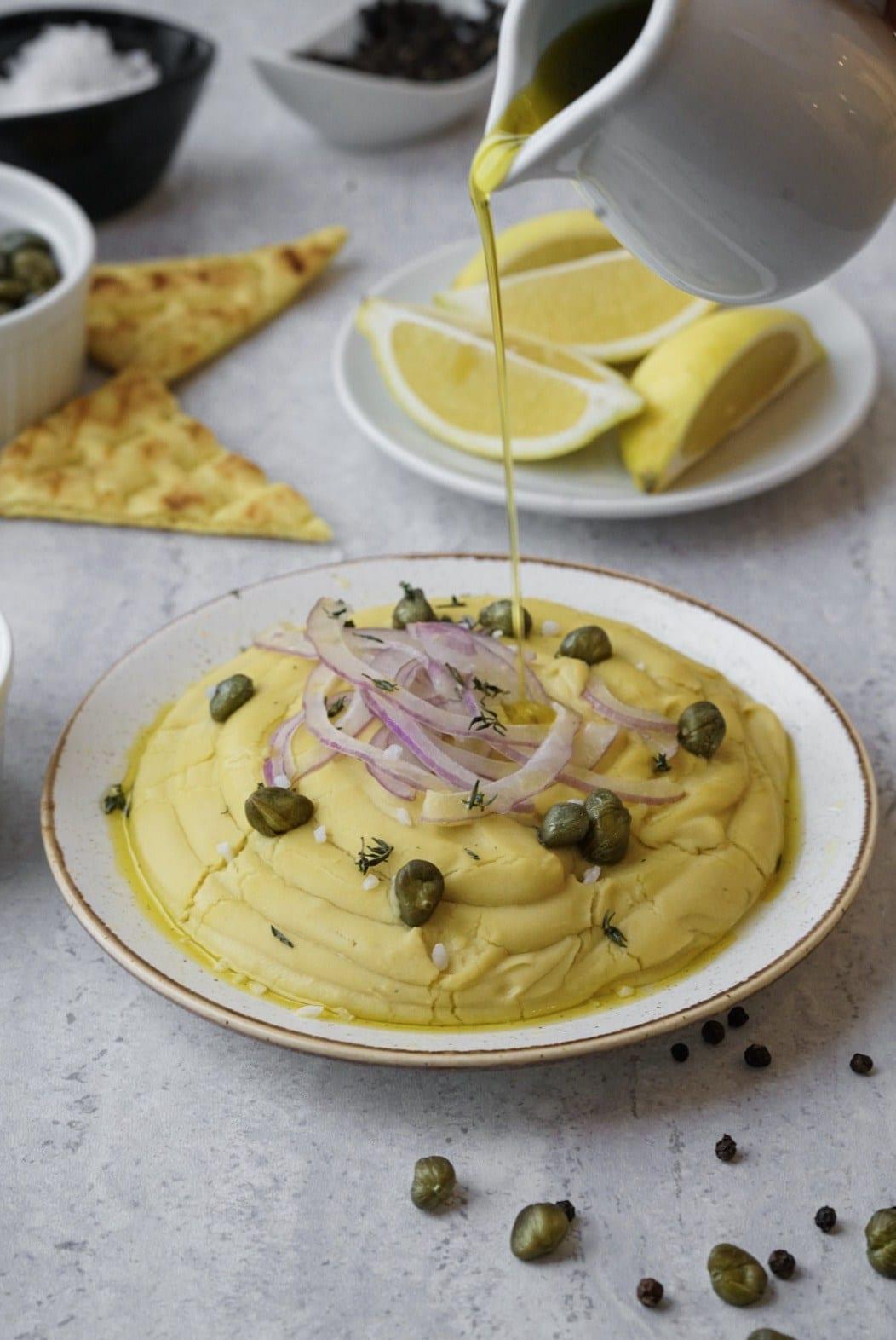 Greek Fava Dip Gluten Dairy Free