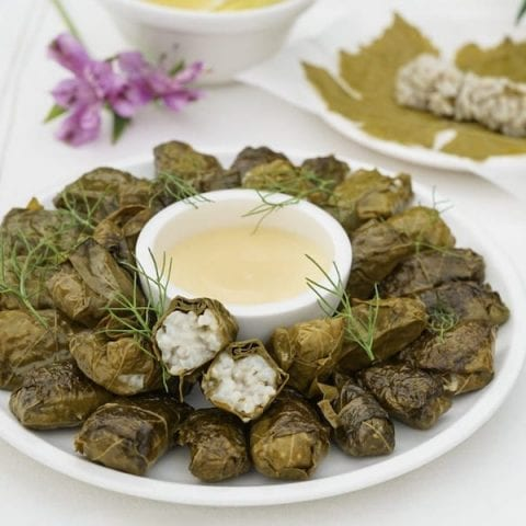 Stuffed Grape Leaves Dolmades From The Chef At Perivolas Santorini