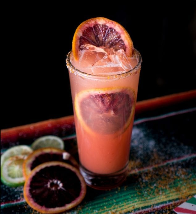 Blood Orange Paloma  – Courtesy of Bodega Negra.