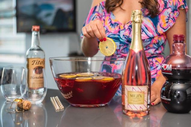 MdM Rose Cocktail - Rose Pomegranate Punch