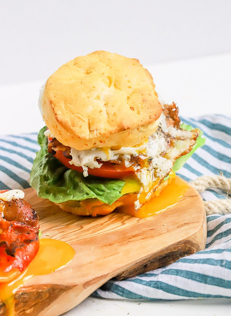Sweet Pepper Biscuit Breakfast Sandwich