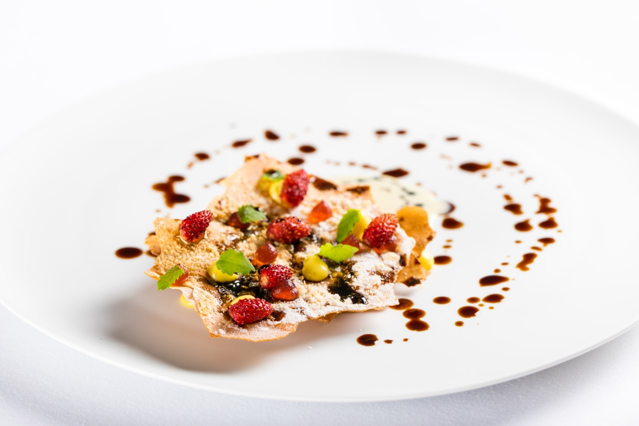 Imago - Millefoglie, Vanilla, Wild Strawberries and Balsamic Vinegar